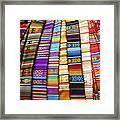 Textile Market Otavalo Ecuador Framed Print
