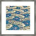 Textile Pattern Framed Print