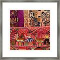 Textiles With Vibrant Colors For Sale Framed Print