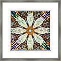 Textured Flower Kaleidoscope Triptych Framed Print