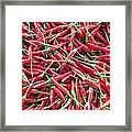 Thai Chili Peppers Background Framed Print