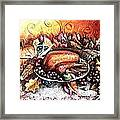Thanksgiving Autumnal Collage Framed Print