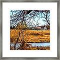The Barn In Autumn Framed Print