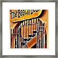 The Beach Bean Framed Print