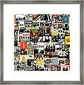 The Beatles Collage Framed Print by Taylan Apukovska