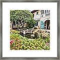 The Beautiful Courtyard Of The Pacific Asia Museum In Pasadena. Framed Print