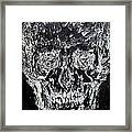 The Black Skull - Oil Portrait Framed Print