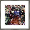 The Blue Garden Gate Framed Print by David Lloyd Glover