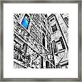 The Blue Window In Venice - Italy Framed Print