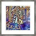 The Carousel Horse Framed Print