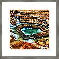 The Cascading Falls - Fort Worth Water Garden  Framed Print