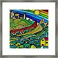The Castles Rainbow Framed Print
