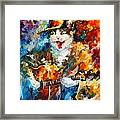 The Cat And The Guitar Framed Print