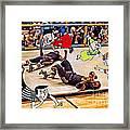 The Chipmunks Skating Roller Derby Framed Print