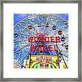 The Coney Island Wonder Wheel Framed Print