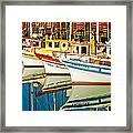 The Crab Fleet Framed Print by Bill Gallagher
