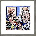 The Cubist Doctor Md Framed Print