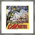 The Deadly Mantis 1957 Vintage Movie Poster Framed Print