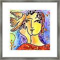 The Dove Whisperer Framed Print