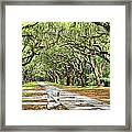 The End Of The Alley Framed Print