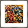 The Fire Dance Framed Print
