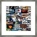 The Fishing Hole Collage Rectangle Framed Print