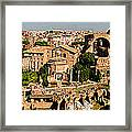 The Forum From The Palatine Framed Print