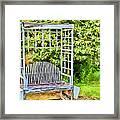The Garden Bench In Spring  Framed Print