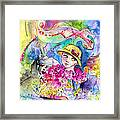 The Girl And The Lizard Framed Print
