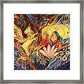 The Golden Griffin Framed Print by Elena Kotliarker