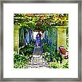 The Grape Trellis Framed Print