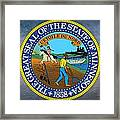 The Great Seal Of The State Of Minnesota Framed Print