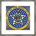The Great Seal Of The State Of Oklahoma Framed Print