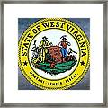 The Great Seal Of The State Of West Virginia Framed Print