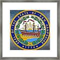 The Great Seal Of The State Of New Hampshire Framed Print