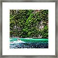 The Green Sea Framed Print by Vijinder Singh