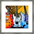 The Guitars Of Jimmy Dence - The Kingpins Framed Print by David Patterson