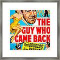 The Guy Who Came Back, Us Poster, Paul Framed Print