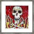The Happy Skull Framed Print by Kip Krause