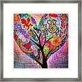 The Happy Tree Framed Print by Denisse Del Mar Guevara