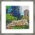 The Illuminated Crowd Of Montreal Framed Print