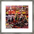 The Kentucky Derby - And They're Off  Framed Print