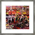 The Kentucky Derby - And They're Off Without Year  Framed Print