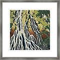 The Kirifuri Waterfall Framed Print by Hokusai