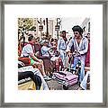 The Laissez Boys At Running Of The Bulls In New Orleans Framed Print