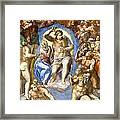 The Last Judgment - Detail Framed Print