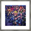 The Mosh Pit Framed Print
