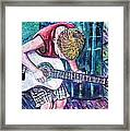 The New Guitar Framed Print by Linda Vaughon