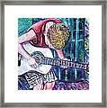 The New Guitar Framed Print by Linda Vaughon
