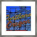 The New Portland Oregon Sign Day Time Framed Print by DerekTXFactor Creative